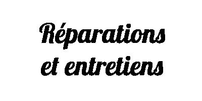 réparation et entretien d'instruments